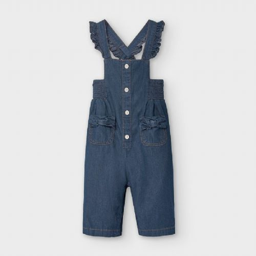 100% Cotton Navy Dungarees 6 Months